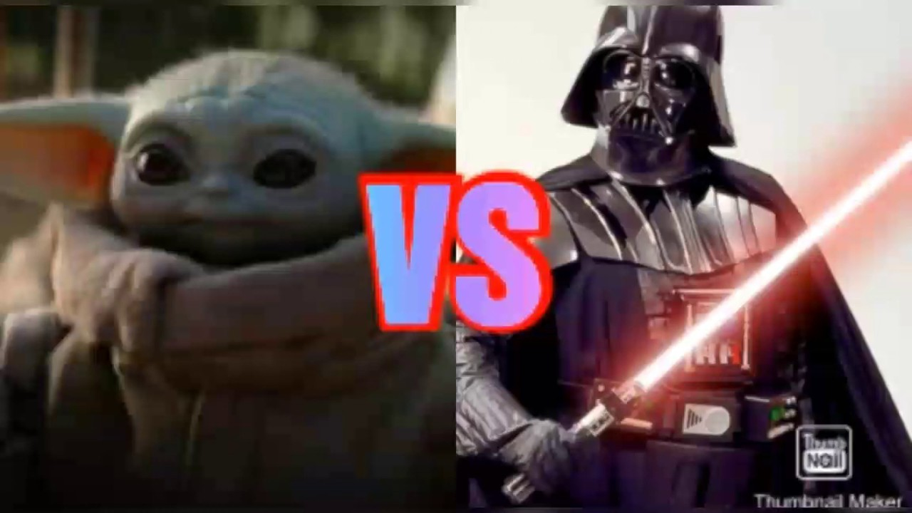 Baby Yoda VS Darth Vader! - YouTube