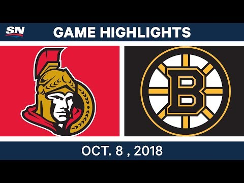 NHL Highlights | Senators vs. Bruins - Oct. 08, 2018