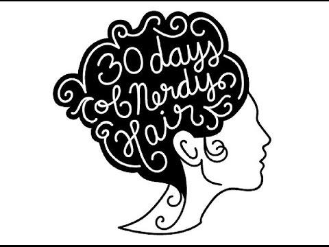#30DaysofNerdyHair  - Day 12: River Song