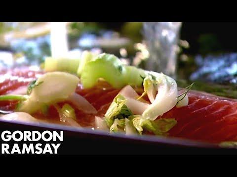 How to Poach and Flavour Salmon - Gordon Ramsay