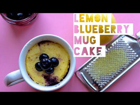 healthy-lemon-cake-mug-cake-recipe-|-how-to-make-a-lemon-blueberry-mug-cake