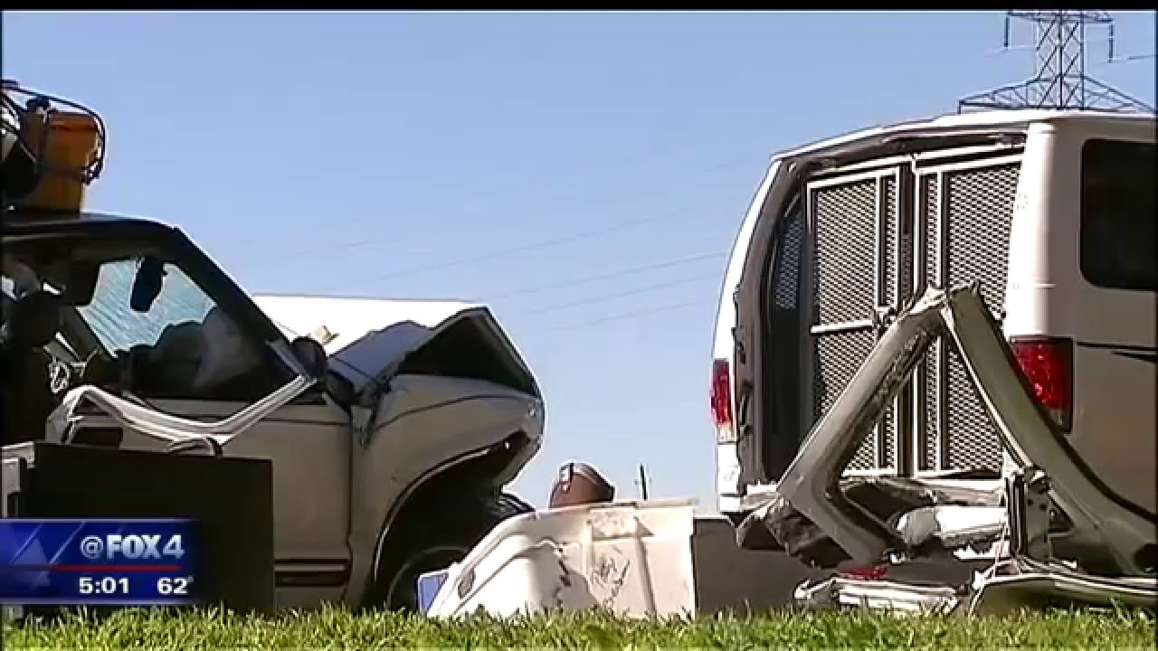 Tarrant County prisoner van crash