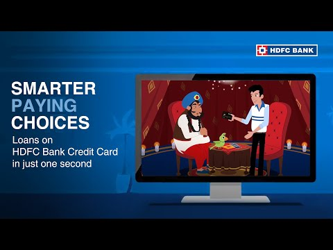 Loans on HDFC Bank Credit Card in just One Second