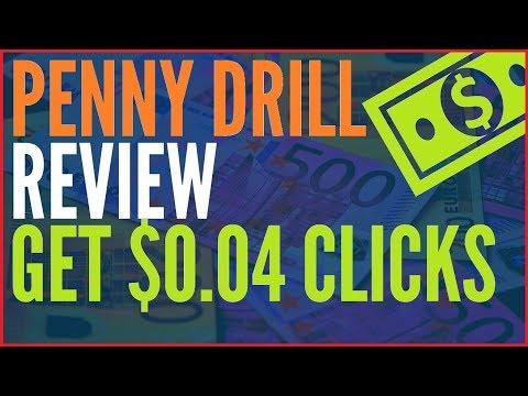 Penny Drill Review & Bonus 💚 Get $0.04 Clicks 💚
