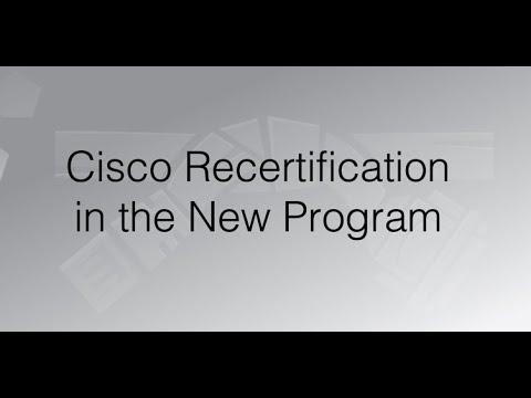 Cisco Recertification in the New Program