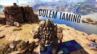 ROCK GOLEM TRAP AND TAMING - Official Ragnarok (E13) - Ark Survival