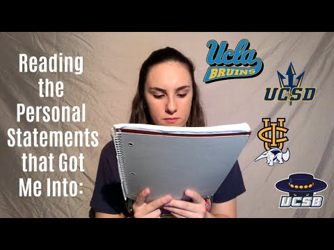 Reading The Personal Statements That Got Me Into UCLA, UCSD, UCI, And UCSB