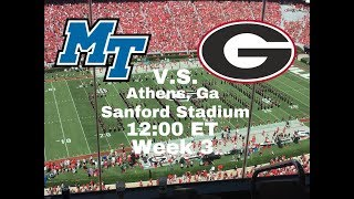 Middle Tennessee state v.s. Georgia college football week 3
