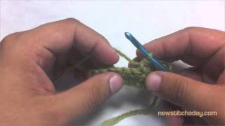 how to crochet double crochet two together decrease dc2tog
