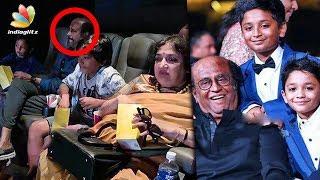 Rajini watches 2.0 with his grandsons | Yatra Dhanush, Latha Rajinikanth | Hot Tamil Cinema News
