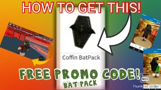 HOW TO GET THE COFFIN BAT PACK! (FREE ROBLOX PROMO CODE HURRY!)