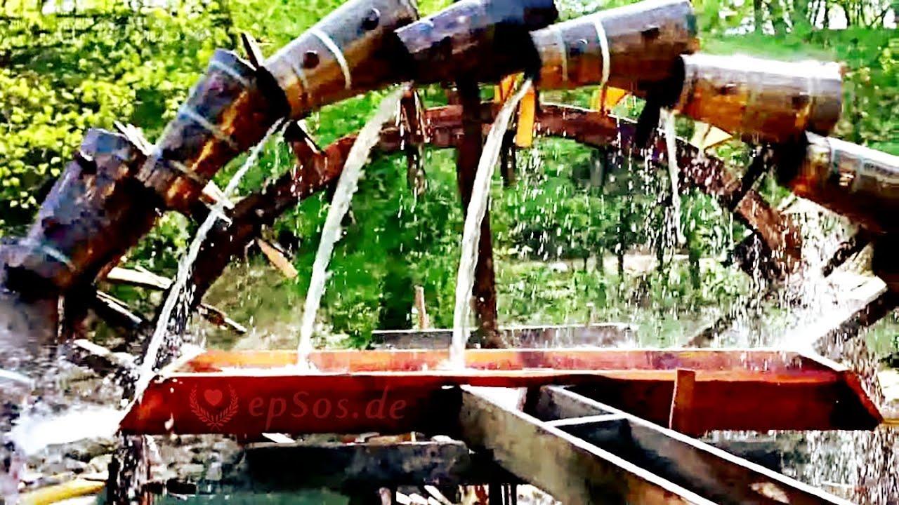 wooden water wheel in europe youtube