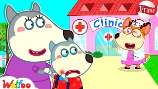 First Time at the Dental Clinic of Baby Wolfoo - Kids Stories About Baby | Wolfoo Channel