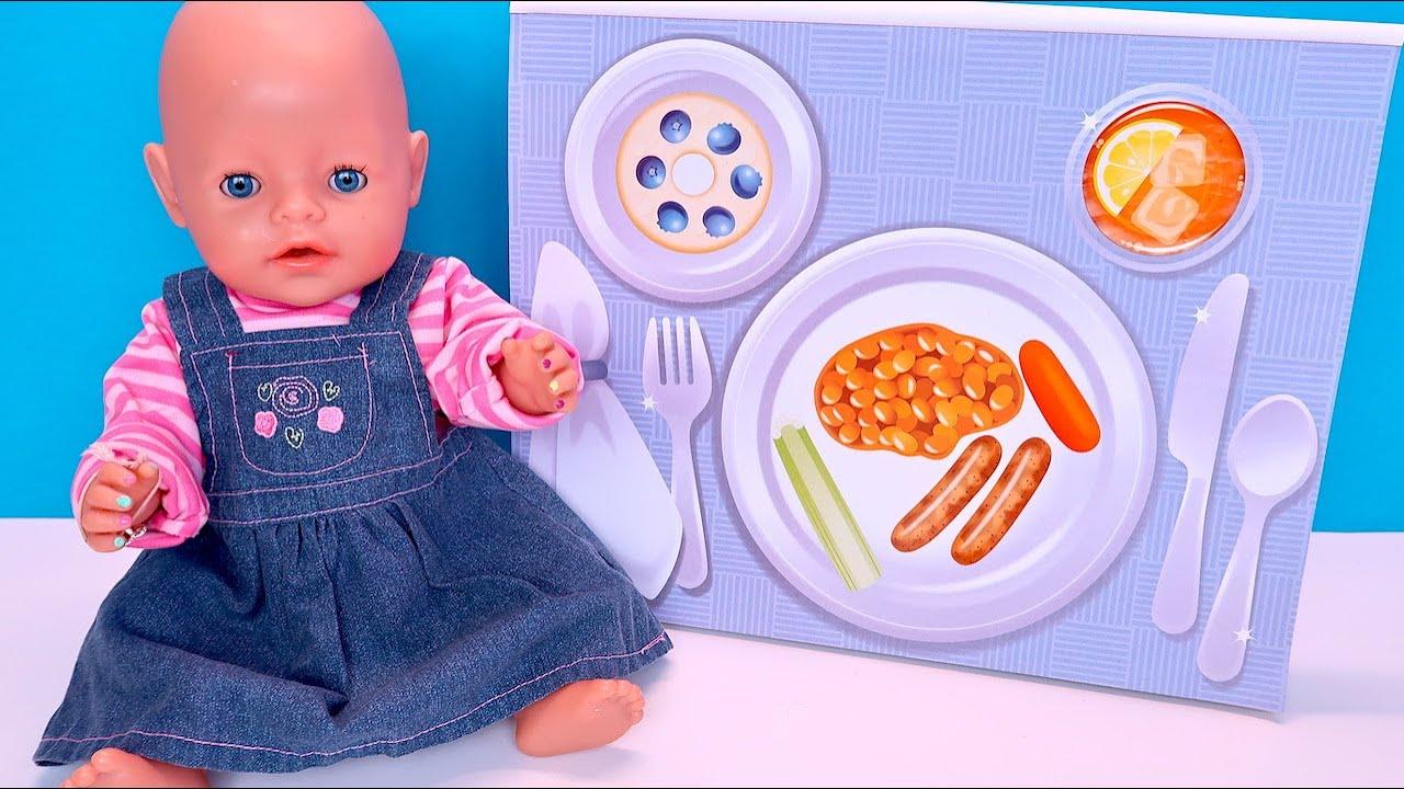 Составляем Меню Клеим Разноцветные Наклейки Мультики Как Мама Играет с Беби Бон Алиса 108мама тв
