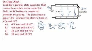 25) Expressing Electric Field in Volts per meter and Newton per coulomb 1 - numerical