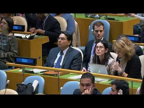 UN General Assembly Session on Illegal Israeli actions in Occupied East Jerusalem