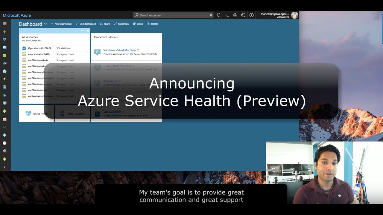 Announcing Azure Service Health Preview