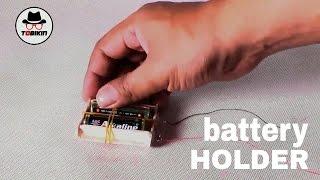 Billig Hausgemachten Batteriehalter (2 x AA 1,5 v)
