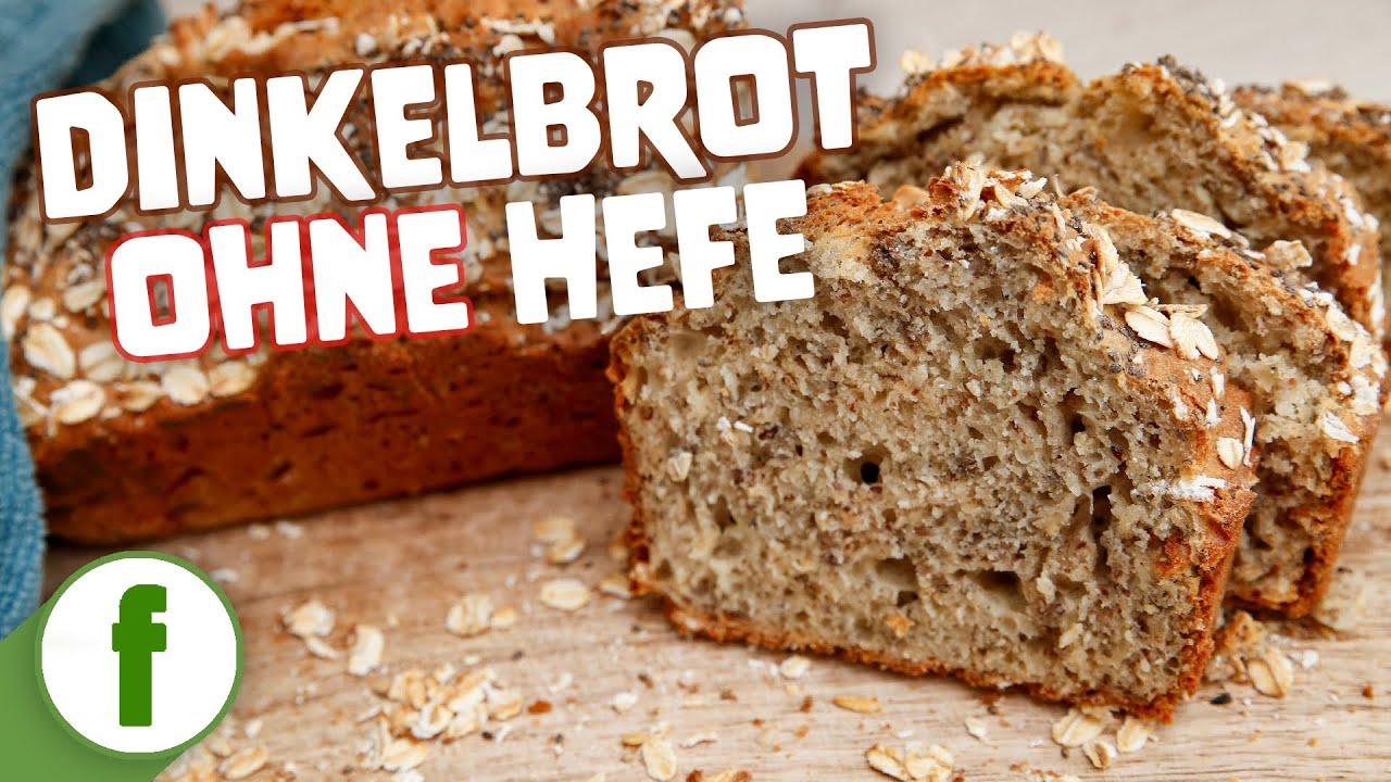 Brot ohne Hefe aus Dinkel mit Haferflocken und Chia