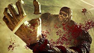 Attack on Titan 2 Final Battle - Levi vs Beast Titan Zeke Boss Fight (AOT2 2019) PS4 Pro