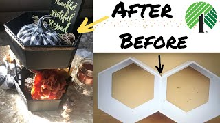 Dollar Tree Fall Tiered Tray DIY | Lantern DIY