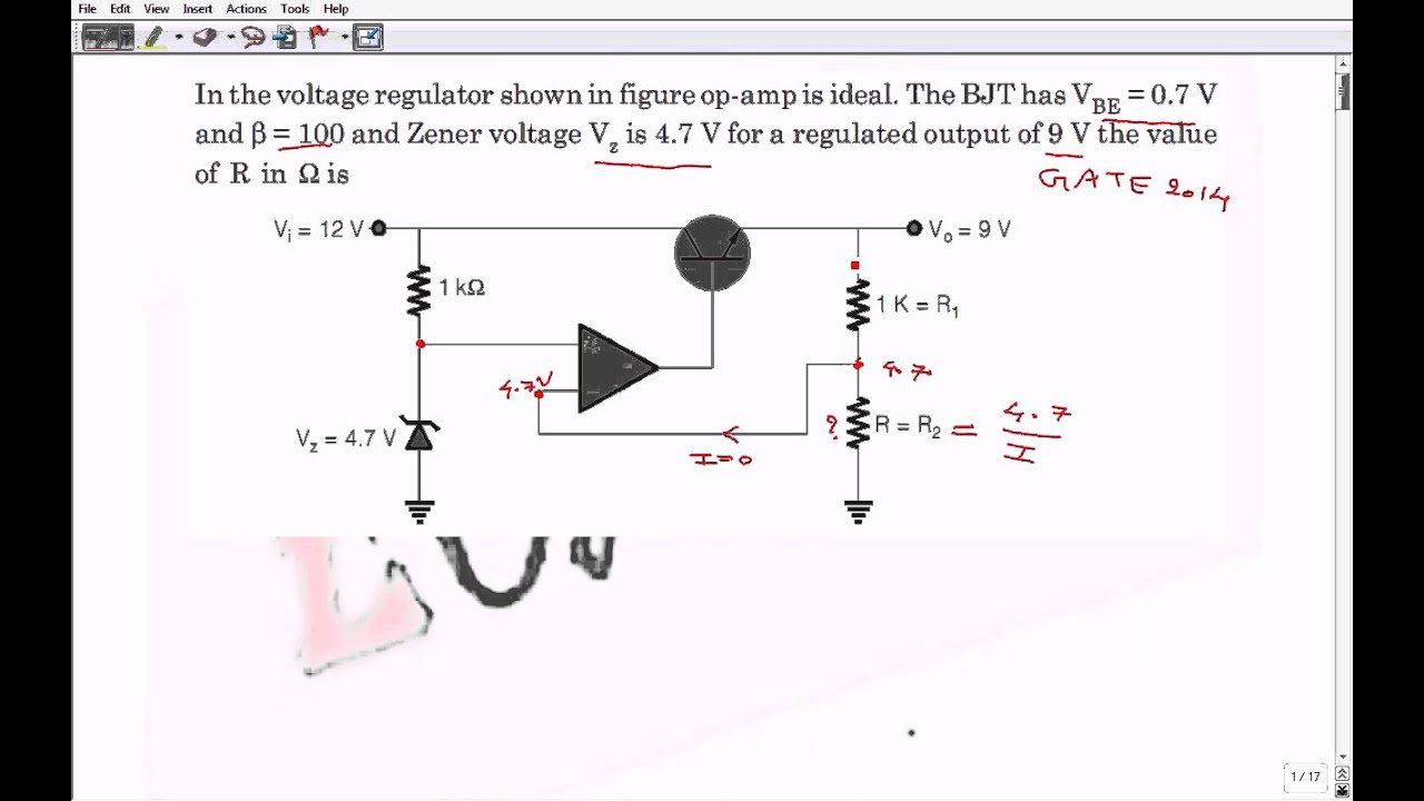 Problem On Voltage Regulator With Solution Gate 2014 Ece Paper Shunt Circuit Analog Circuits