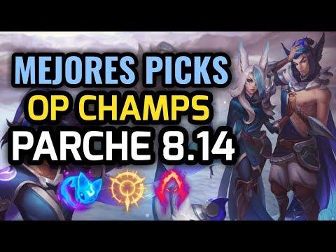 MEJORES PICKS Y CAMPEONES OP - PARCHE 8.14 League of Legends - OP Champs LOL 2018 Temporada 8