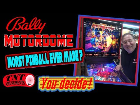 #1378 Bally MOTORDOME --the WORST Pinball Machine ever made?  YOU Decide!  TNT Amusements