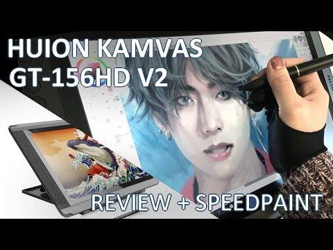 HUION KAMVAS GT-156HD V2 Unboxing / Review + BTS V