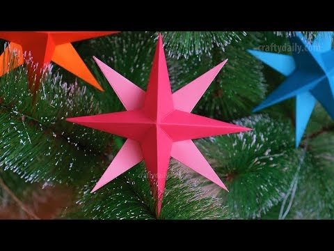 Easy 3D Paper Star for Christmas ⭐ DIY Christmas Decorations