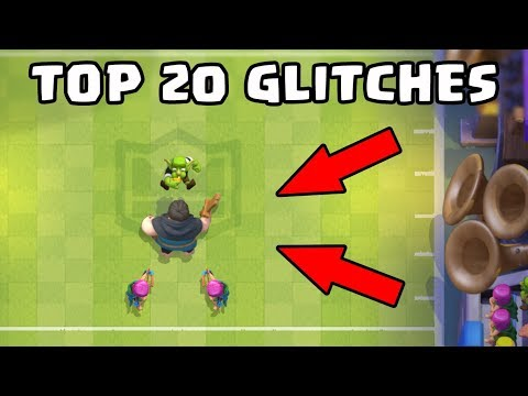 Top 20 Glitches in Clash Royale's New Update   Funny Glitches