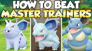 How To Beat Nidoran F, Nidorina, & Nidoqueen Master Trainers Guide!