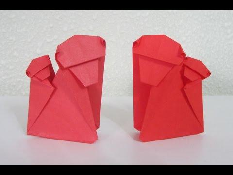 TUTORIAL - Origami Monkey (Mother & Child)