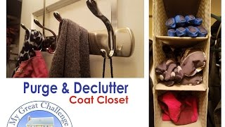 Purge & Declutter with Me     Coat Closet   