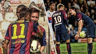 Neymar With Cavani Vs Neymar With Messi  The Difference  HD