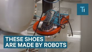 Shoes Are Stitched And Tied Together By Robots