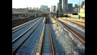 REAR VIEW - Amtrak's Capitol Limited - Chicago Union Station to Hammond-Whiting IN