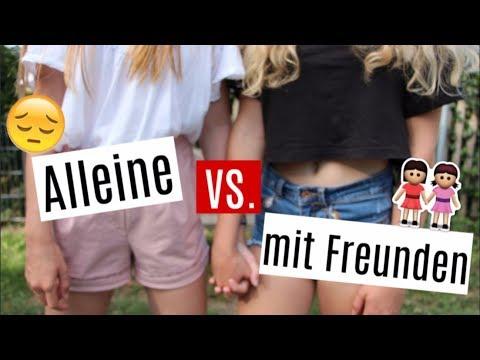 MÄDCHEN ALLEINE vs mit FREUNDEN Leonie4ever