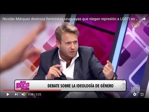 Nicolás Márquez destroza feminista uruguaya pro castrista