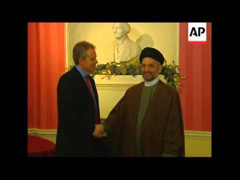 Blair meets Shiite leader Abdul-Aziz al-Hakim