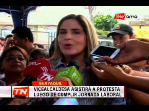 Vicealcaldesa asistirá a protesta luego de cumplir jornada laboral