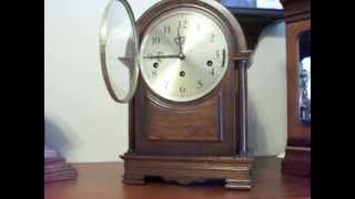 Hamilton Triple Chime Pillored Mantel Clock - Westminster, Whittington, And Winchester Chime