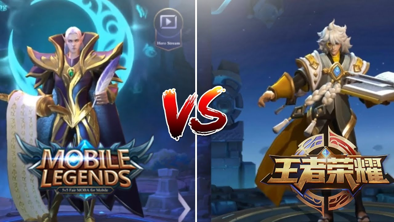 mobile legends vs king of glory side by side comparison