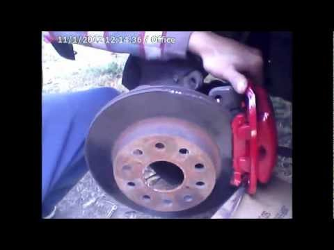 Toyota Brake Pads >> how to replace disc and brake pads on a toyota mr2 - YouTube