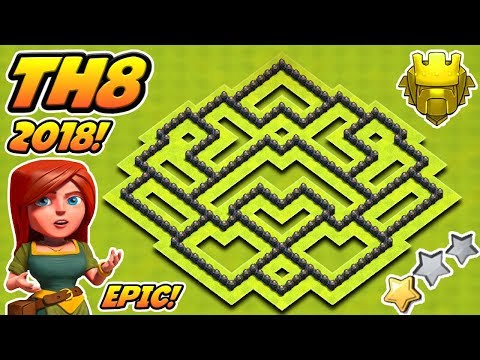 Epic Town Hall 8 (TH8) Trophy Base 2018!! | Th8 Trophy Base 2018! | Clash Of Clans