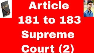 Acting judges of supreme court of Pakistan Article 181 to 183 of constitution of Pakistan 1973 urdu