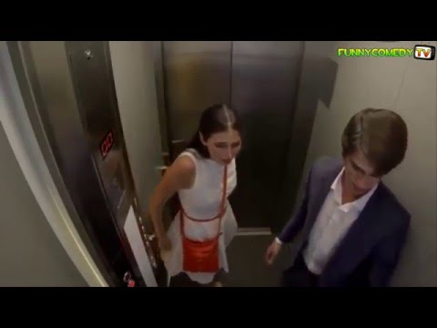 Fast Elevator Prank Beautiful Russian Girl