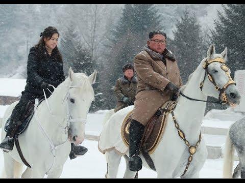 Kim Jong Un And Ri Sol Ju Visit Revolutionary Battle Sites On Mt. Paektu
