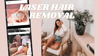 LASER HAIR REMOVAL PROCESS AT HOME!