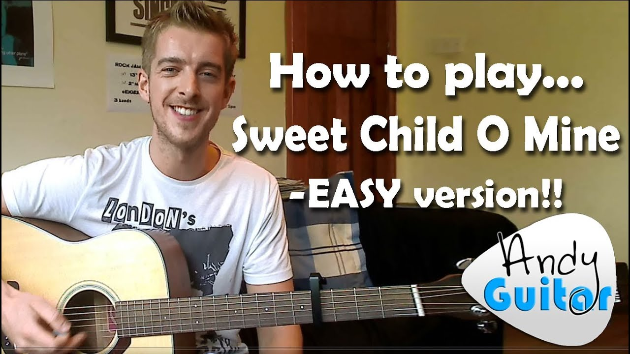 sweet child o mine guns n roses how to play an easy beginners version youtube. Black Bedroom Furniture Sets. Home Design Ideas